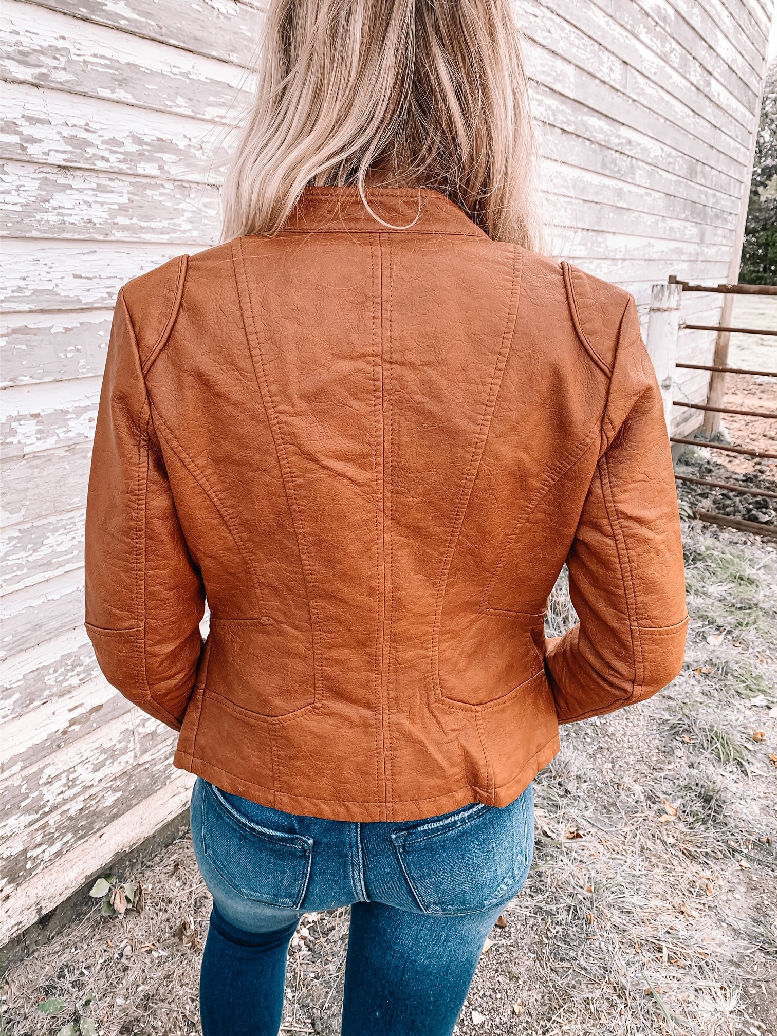 Coalition Camel Vegan Leather Jacket