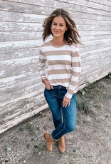 Taupe Striped Long Sleeve