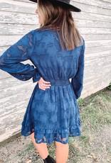 Teal Burnout Dress