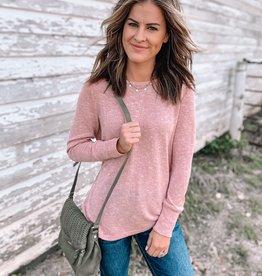 Blush Cut Out Sweater