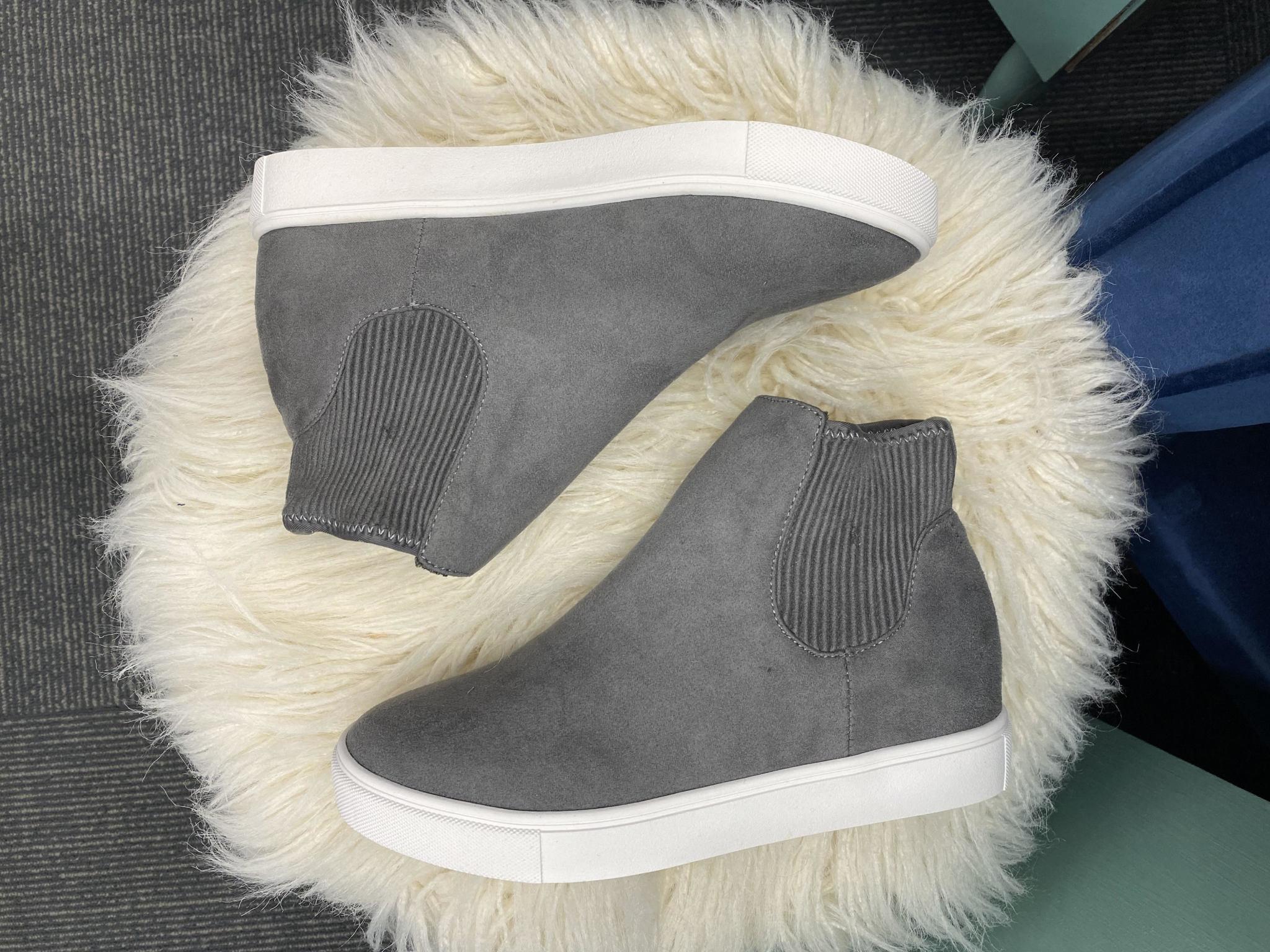 Sam Grey High Top Sneakers