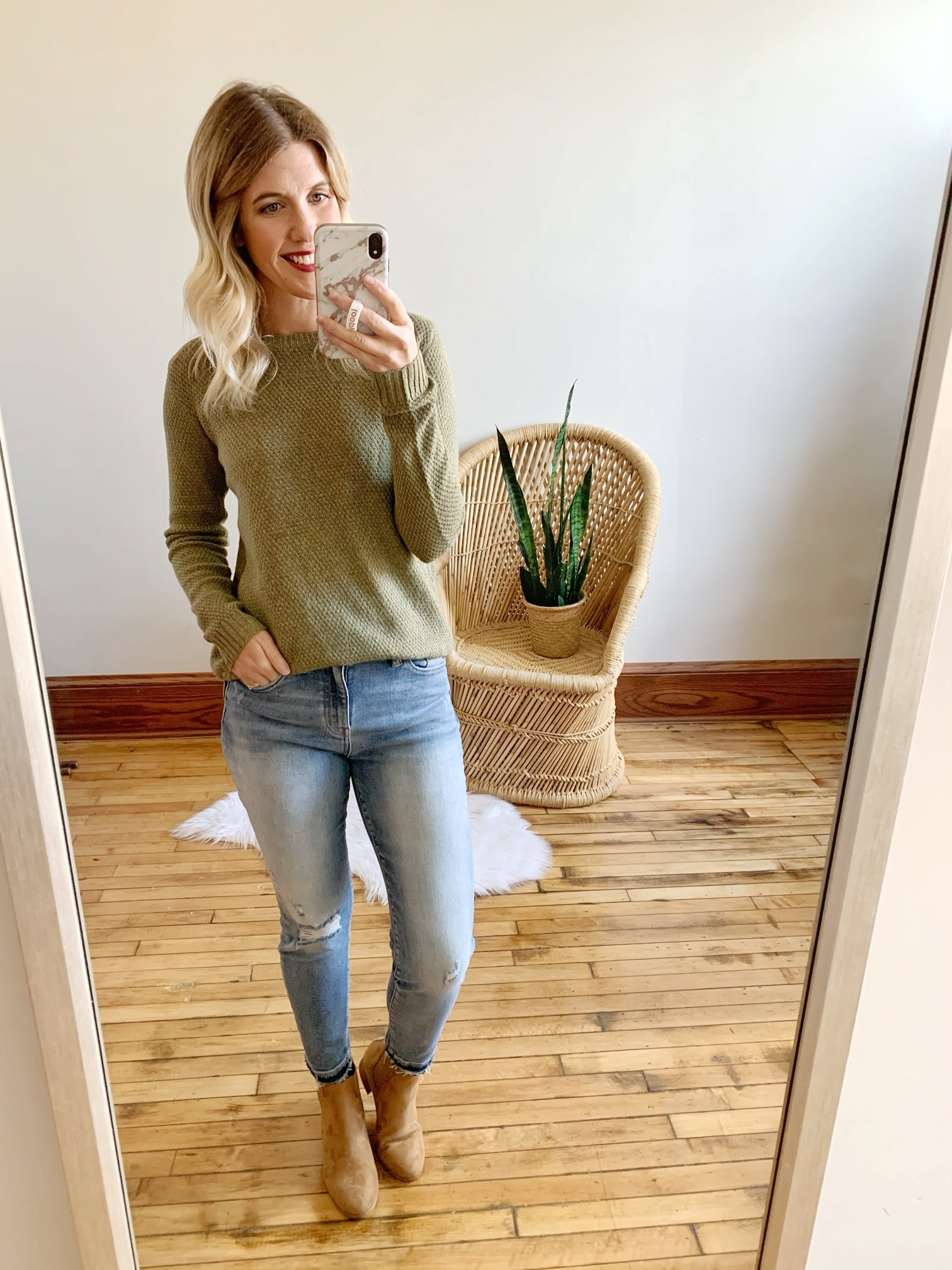Lexi Light Wash Distressed Jeans