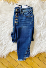 Haley High Rise Button Fly Jeans