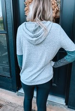 Teal + Grey Colorblock Sweatshirt