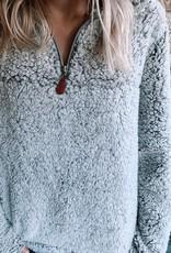 Charcoal Fleece Pullover