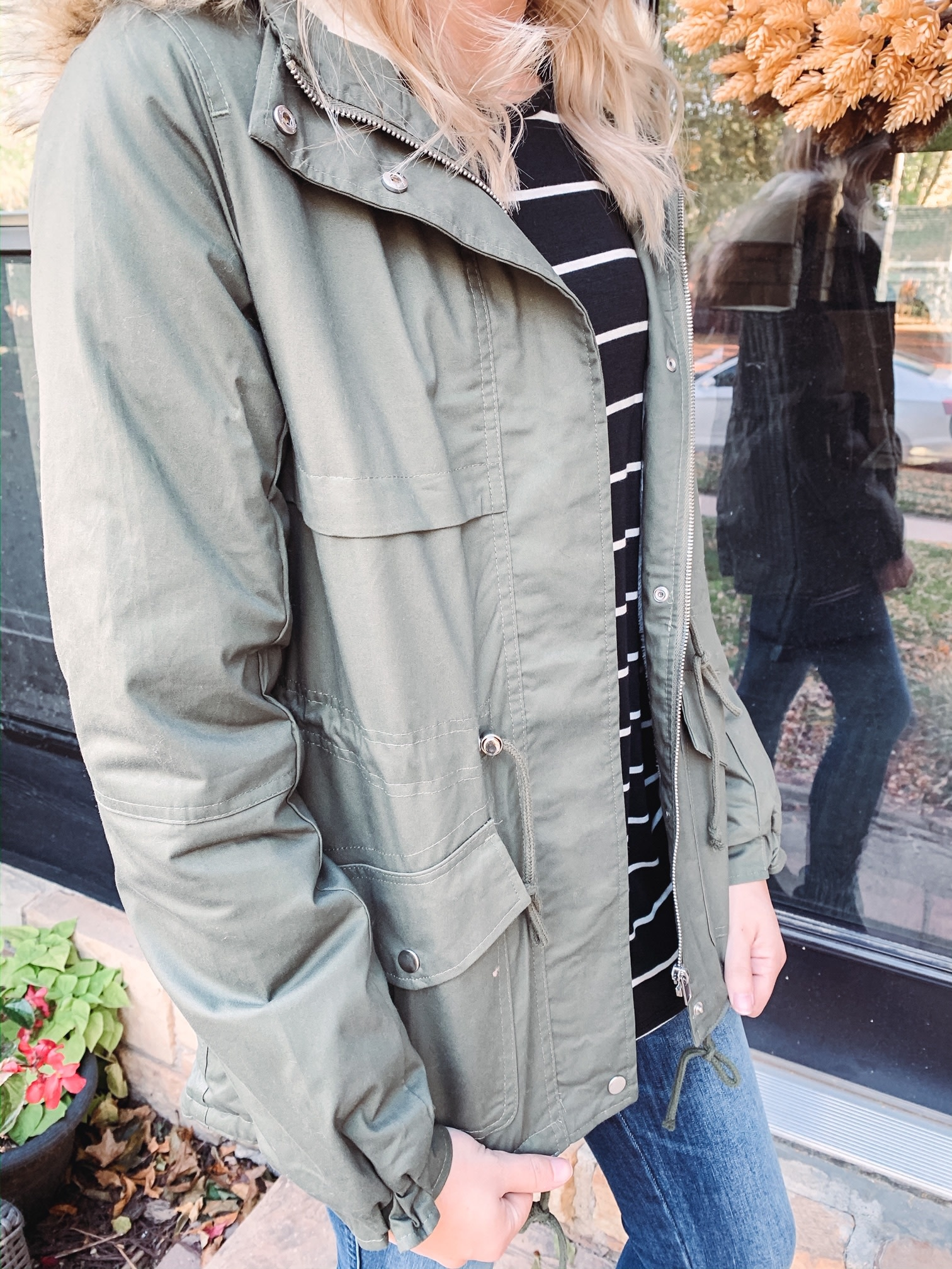 Parker Olive Hooded Coat