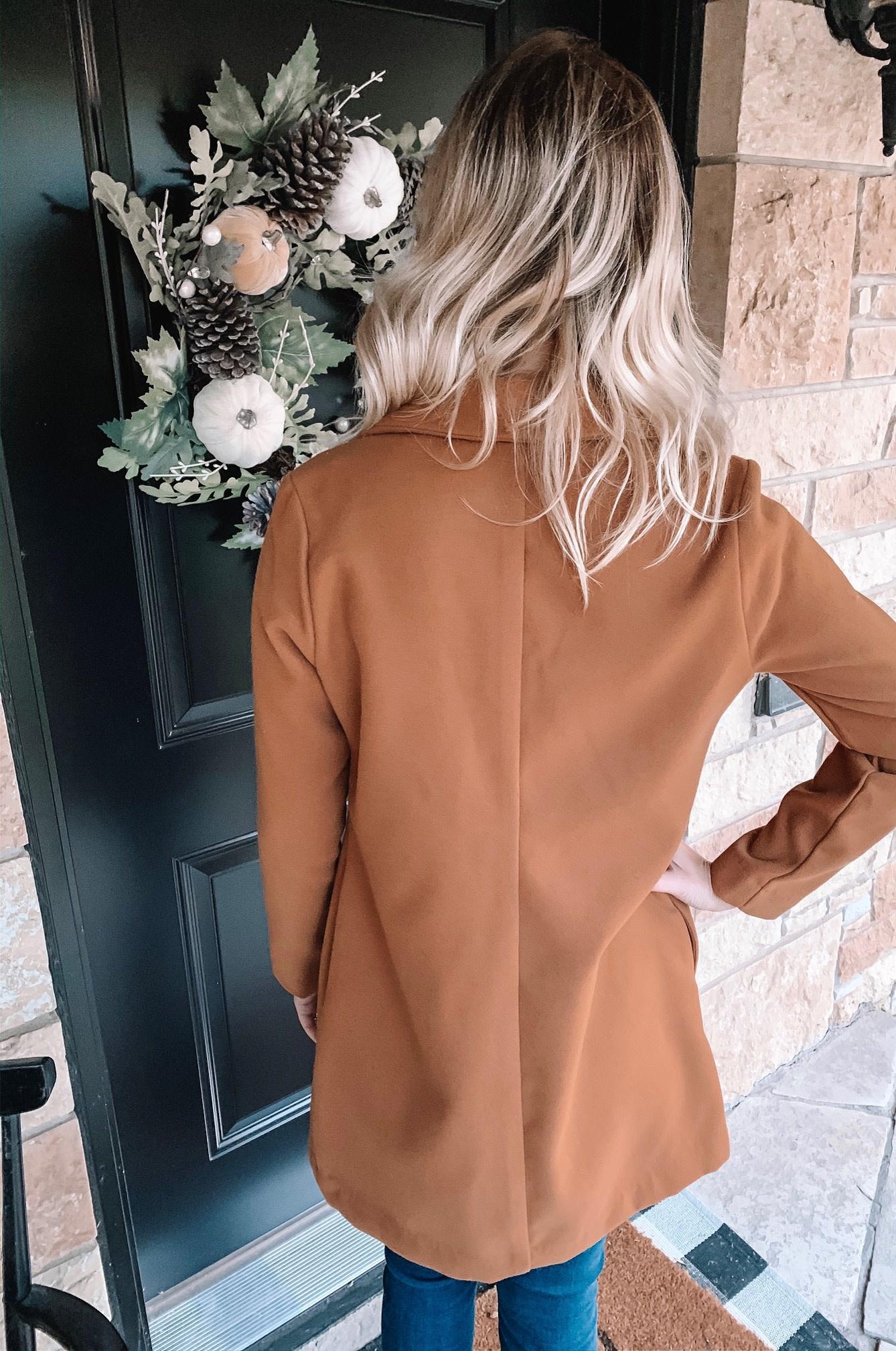 Mila Camel Collared Coat