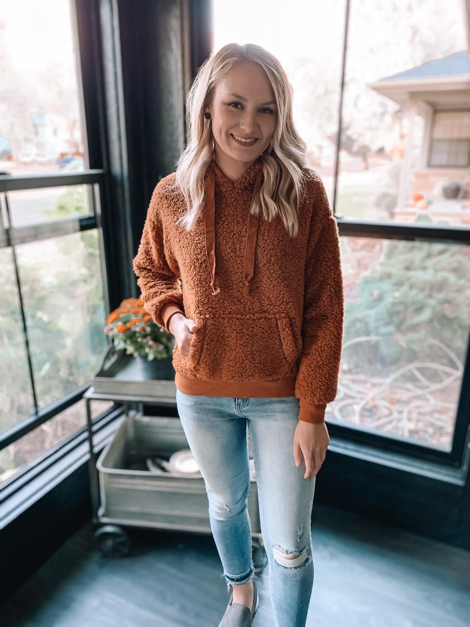 Cinnamon Sherpa Sweatshirt