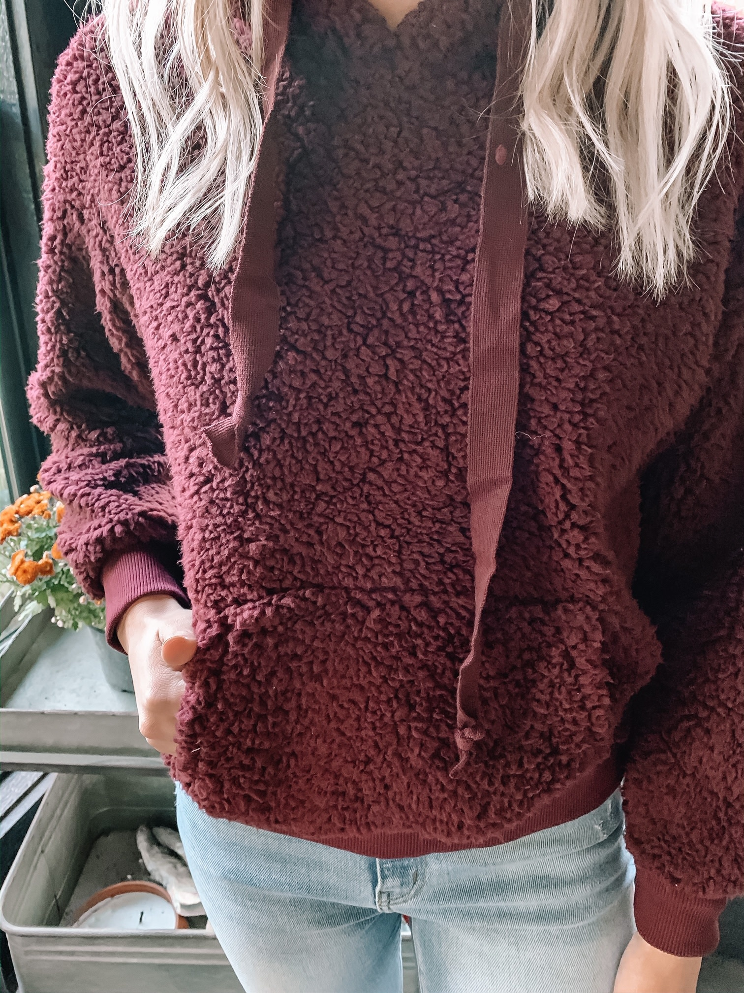 Wine Sherpa Sweatshirt