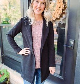 Mila Black Collared Coat