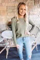 Alexa Light Olive Sweater