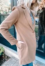 Mila Light Camel Collared Coat