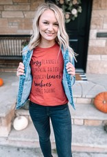 Red Fall List Graphic Tee