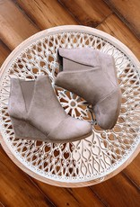 Sawyer Taupe Wedge Booties