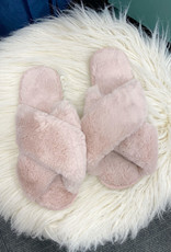 Cora Pink Fuzzy Slippers
