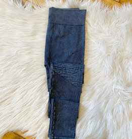 NikiBiki Vintage Pleated Denim Jeggings