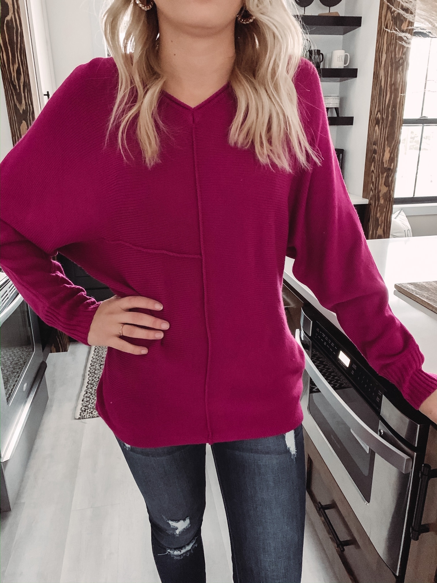 Harlow Magenta Sweater