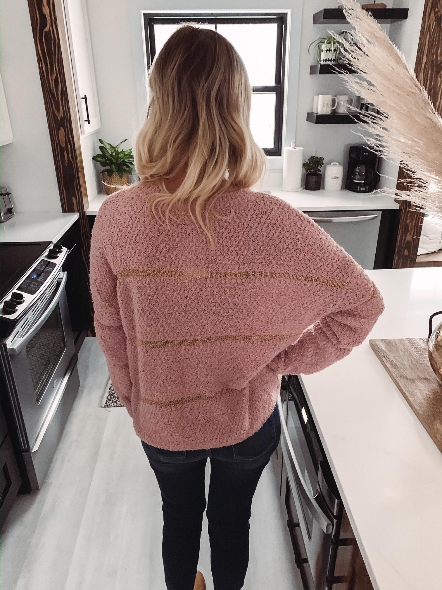 Aiden Mauve Sweater