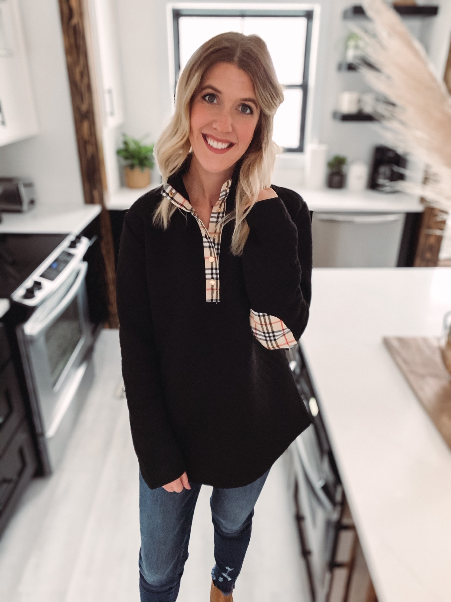 Landry Quilted Plaid Pullover