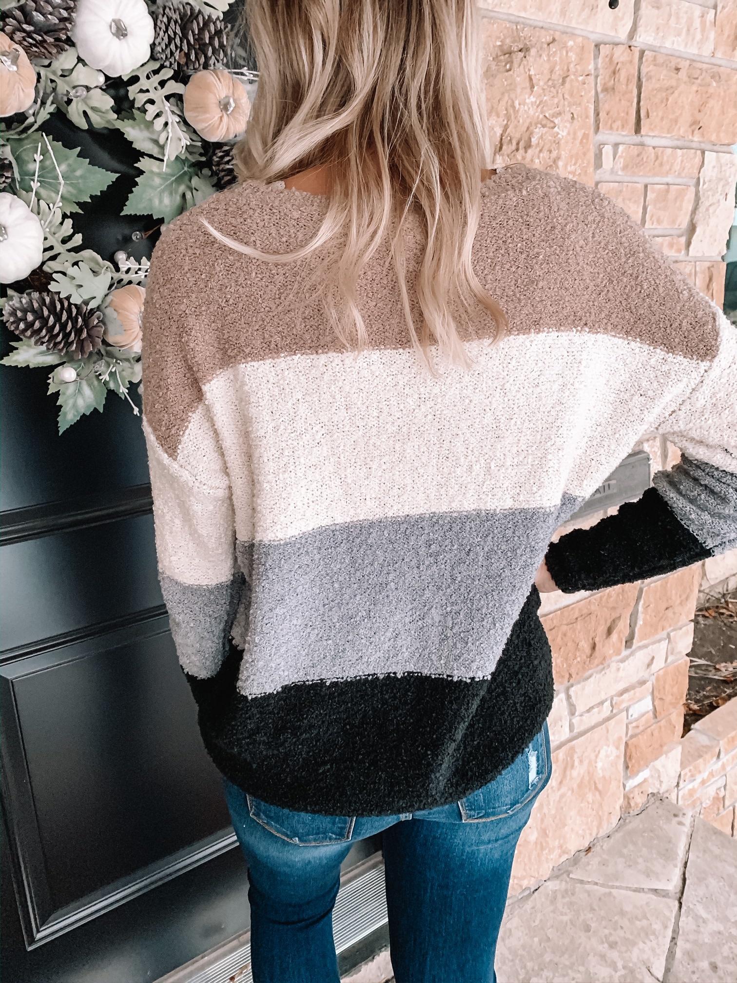 Alexis Black Colorblock Sweater