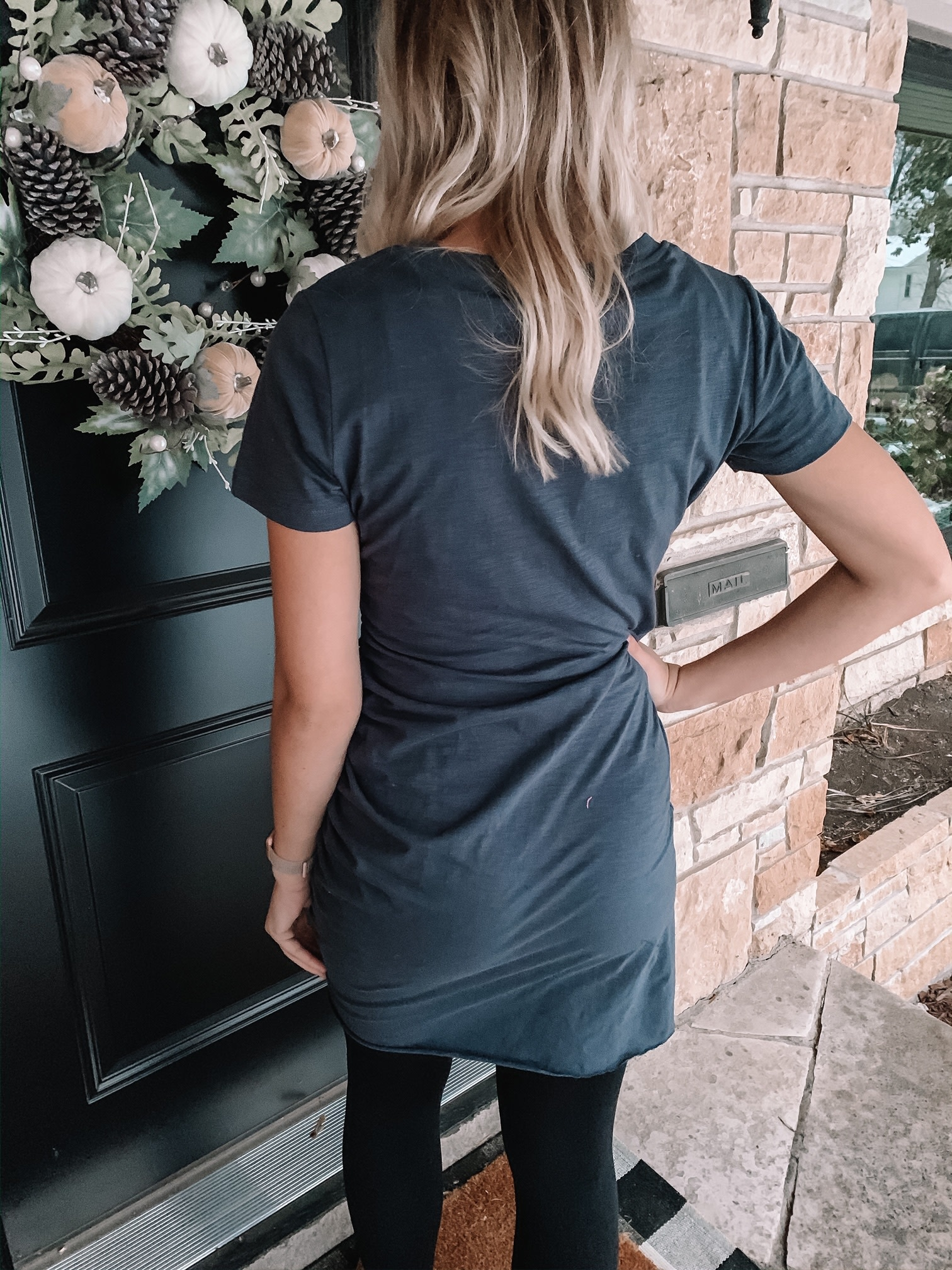Midnight Ruched Dress