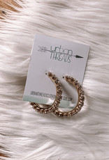 Maya Beaded Hoop Earrings