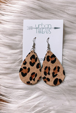 Leopard Hair Teardrop Earrings