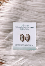Oval Marble Earrings
