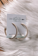 Ava Pearl Hoop Earrings