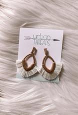 Sam Ivory Tassel Earrings