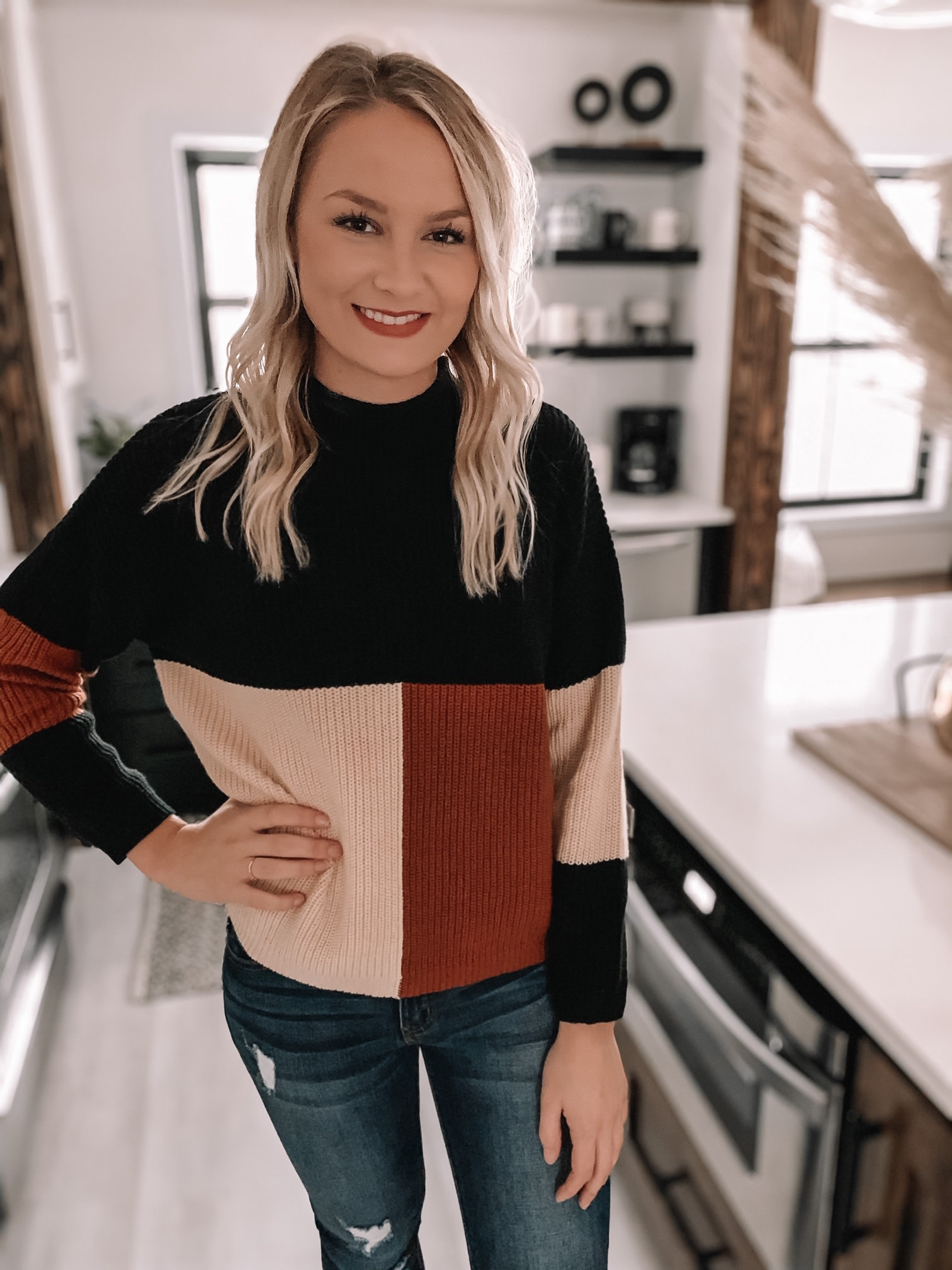 Britta Color Block Sweater