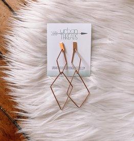Rose Gold Diamond Linked Earrings