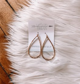 Laney Teardrop Hammered Earrings