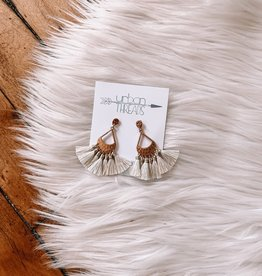 Mia Ivory Tassel Earrings