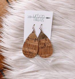 Olivia Cork Teardrop Earrings