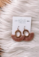 Blush Tassel Fan Drop Earrings