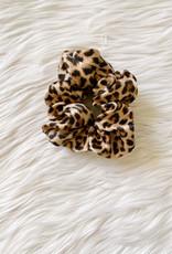 Satin Leopard Scrunchie