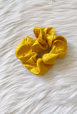 Satin Marigold Spotted Scrunchie