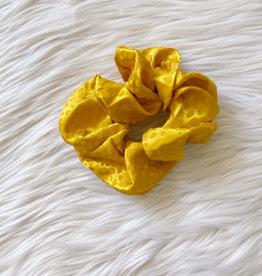 Satin Marigold Spotted Scrunchie