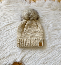 Taupe Cable Hat