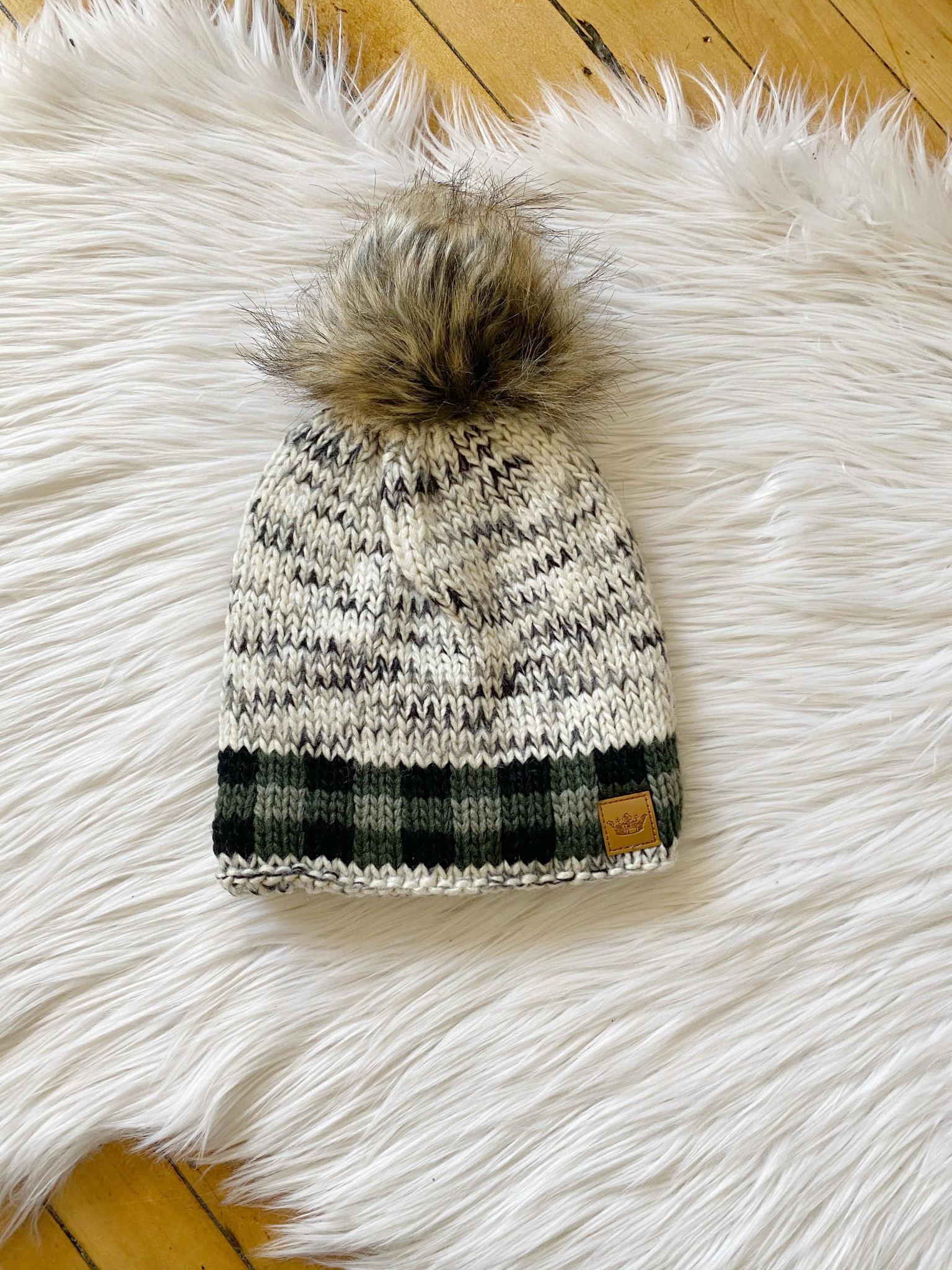 Sylvie Green Plaid Hat
