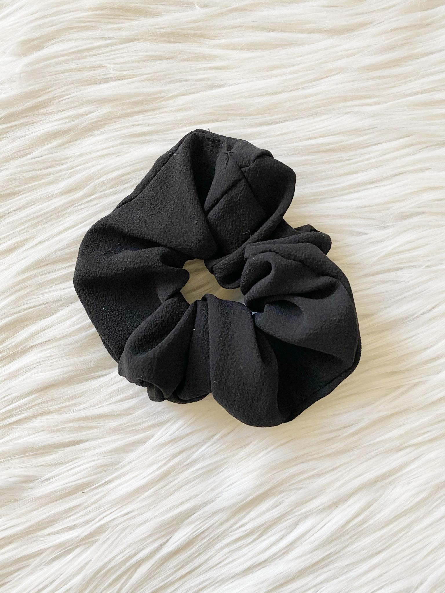 Solid Black Scrunchie
