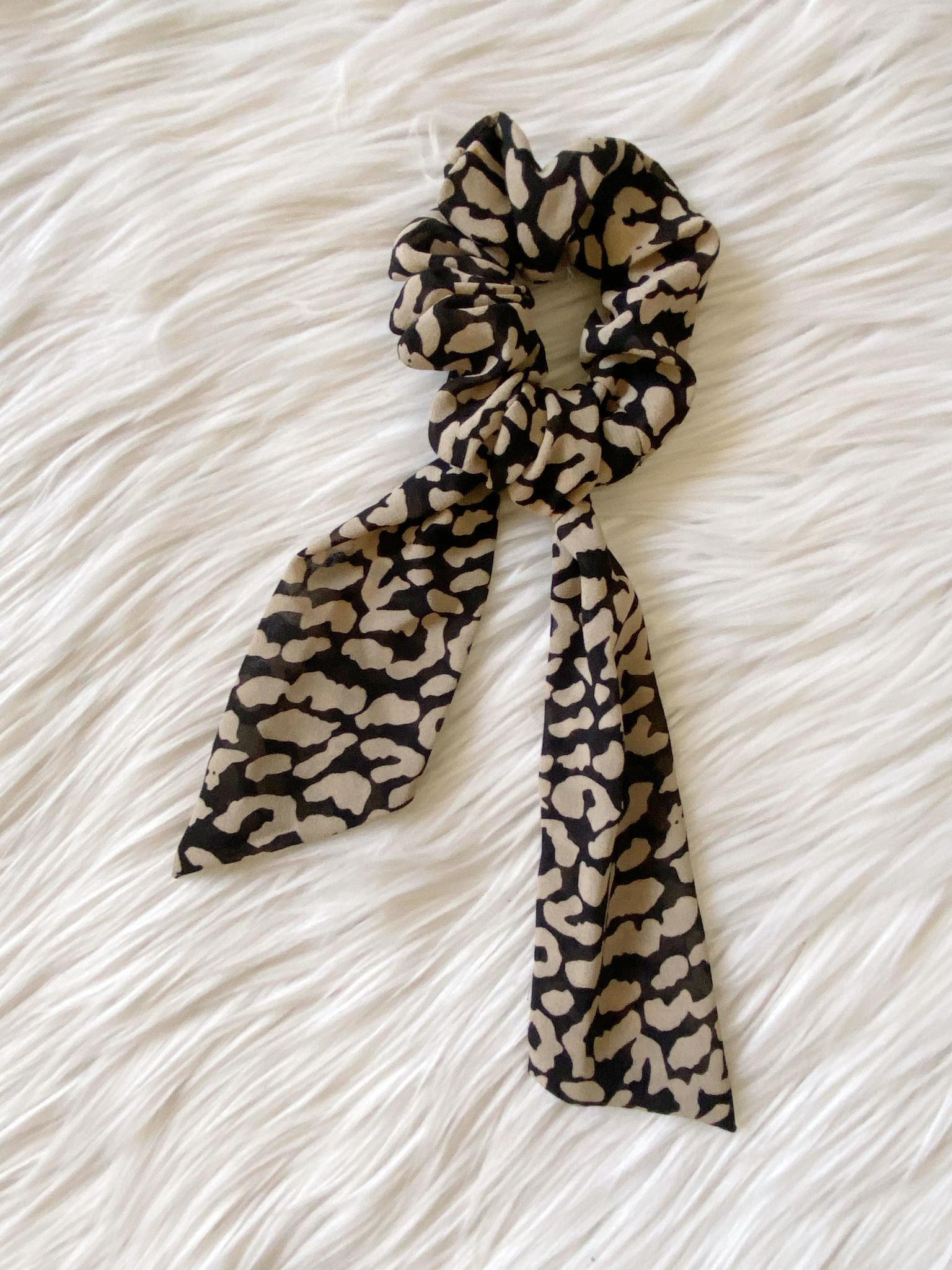 Molly Leopard Tail Scrunchie