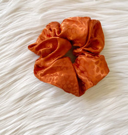 Satin Rust Spotted Scrunchie