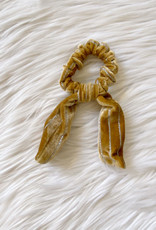 Gold Shimmer Velvet Tie Scrunchie