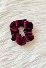 Lexi Burgundy Velvet Scrunchie
