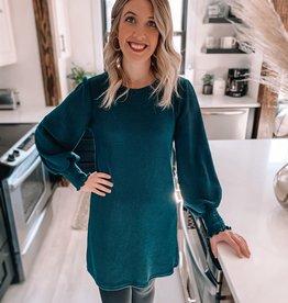 Leslie Sea Green Knit Dress