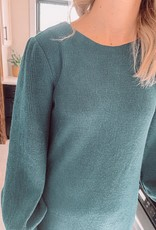 Leslie Sea Green Knit Dress