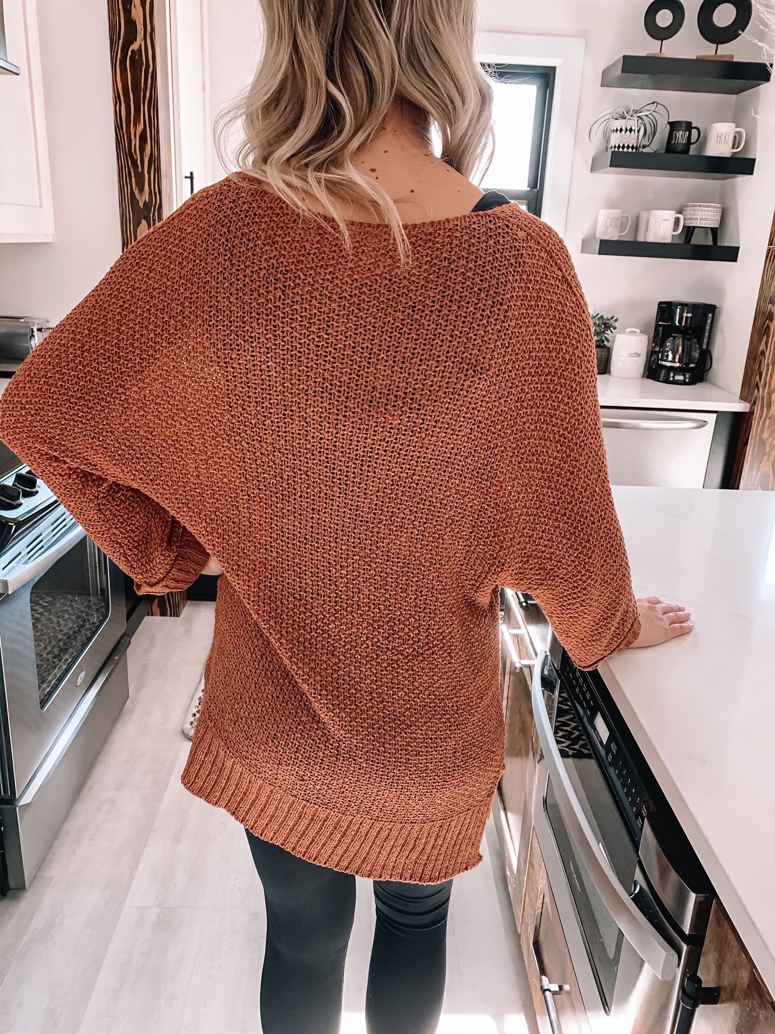 Relaxed Rust Sweater