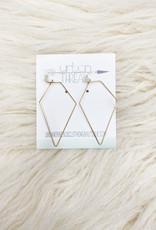 Luna Gold Polygon Earrings